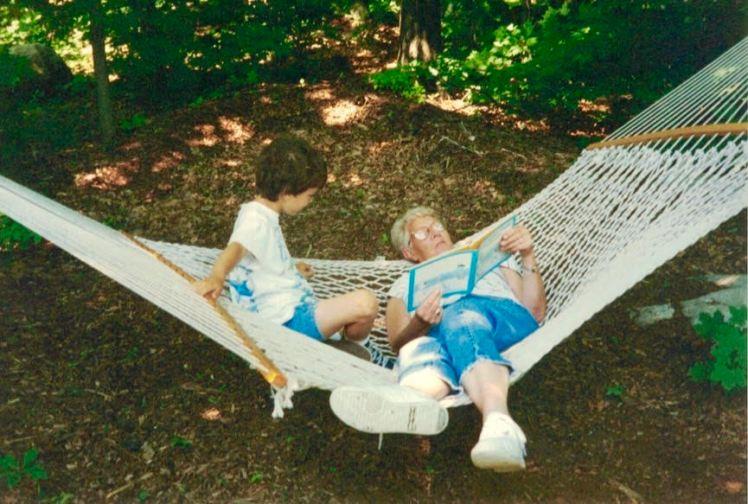 sylvia reading hammock