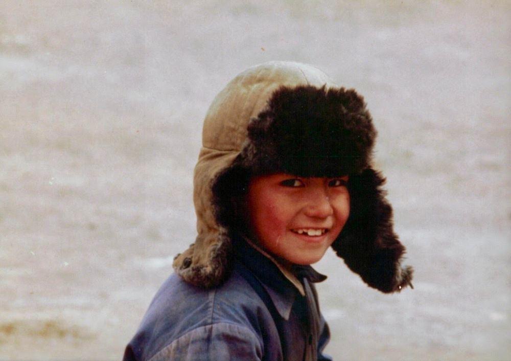 fur hat boy mongolia