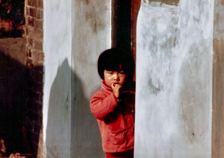 mongolian red coat child
